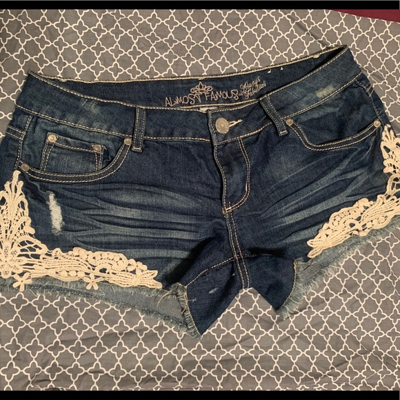 Almost Famous Pants - Almost famous lace shorts
